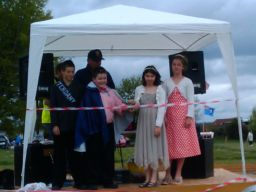 May Day fete opened by King and Queen