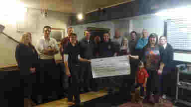 Cheque Presentation to Women V Cancer